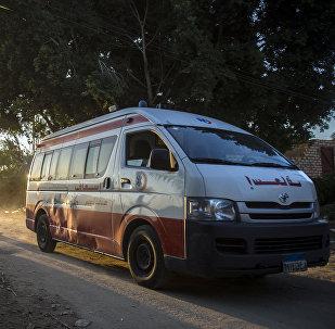 Ambulância no Egito (Arquivo)