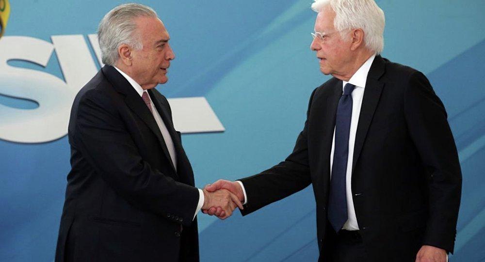 O ex-presidente Michel Temer e o ex-ministro de Minas e Energia, Moreira Franco