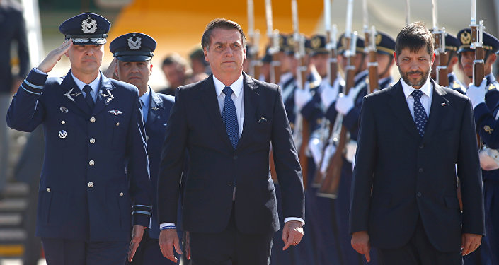 Presidente de Brasil, Jair Bolsonaro, llega a Chile