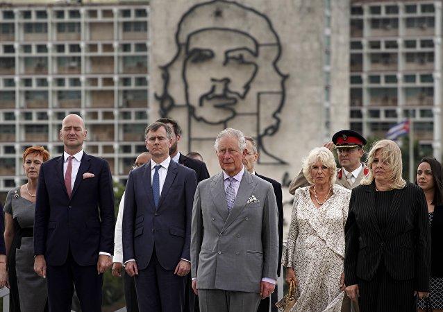 O príncipe Charles e a duquesa Camilla visitam Memorial José Martí, em Havana, 24 de março de 2019
