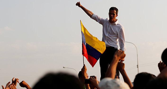 Presidente da Assembleia Nacional da Venezuela, Juan Guaidó (imagem de arquivo)