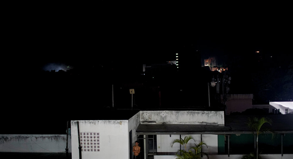 Consequências de apagão na Venezuela (foto de arquivo)