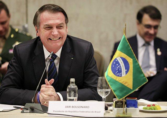 Jair Bolsonaro no Café da manhã organizado por sociedade chilena, 23 de março de 2019