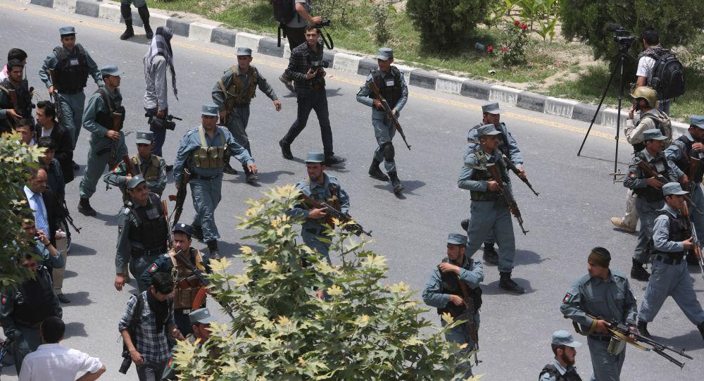 Forças de segurança afegãs durante patrulha em Cabul, capital do Afeganistão (arquivo)