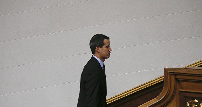 Presidente da Assembleia Nacional de Oposição Juan Guaidó