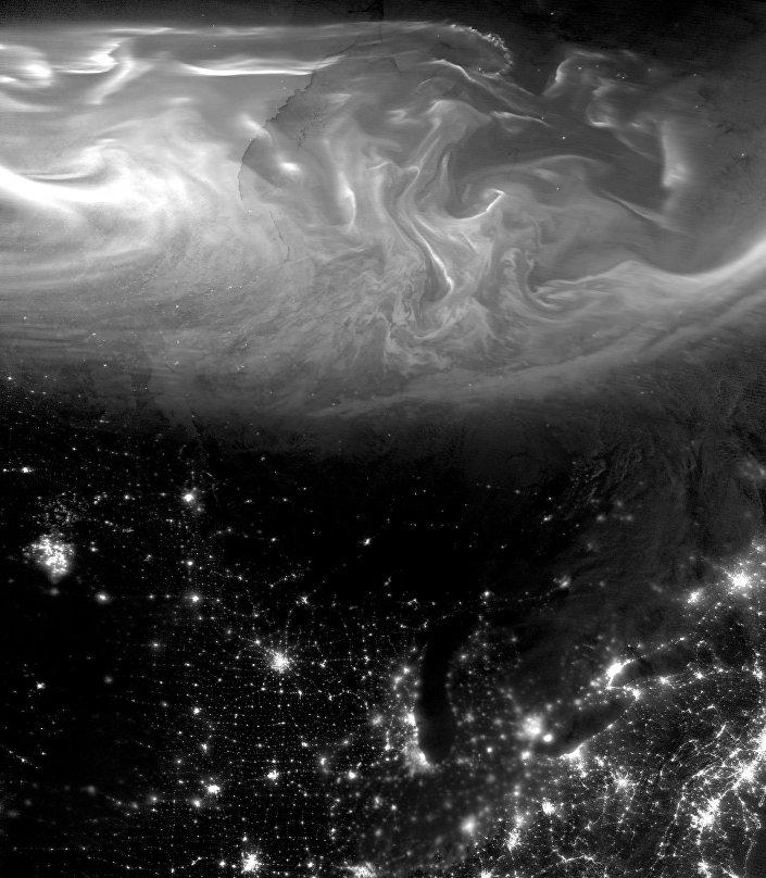 Redemoinho boreal captado pela NASA