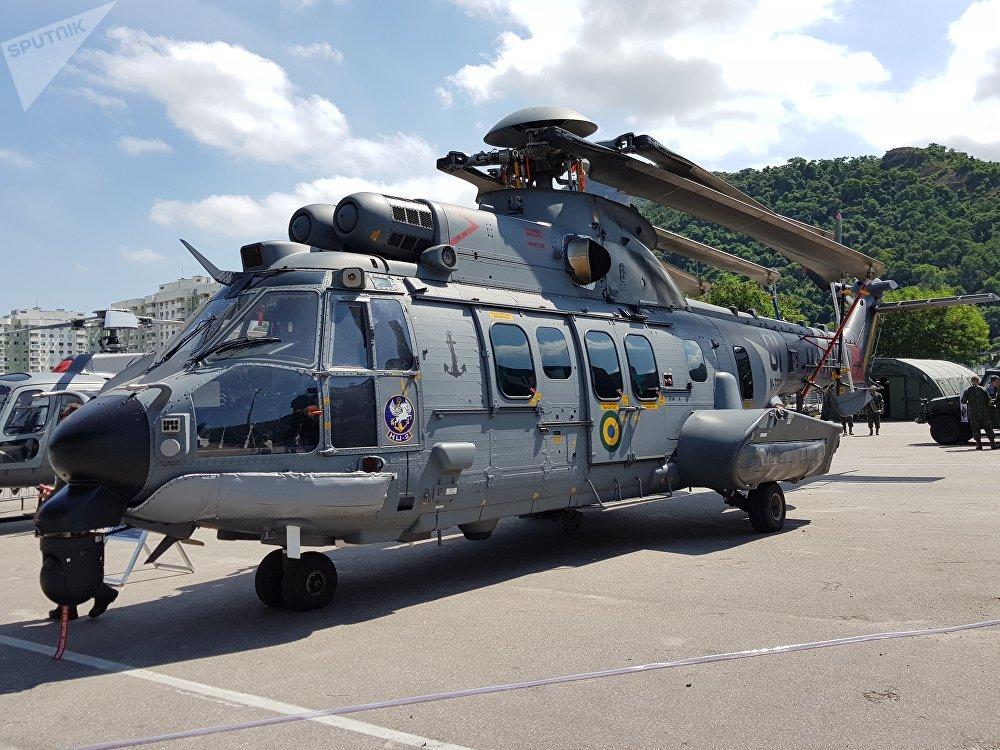 Helicóptero H225M, da Helibras, integrante da família militar Super Cougar/Puma da Airbus Helicopters