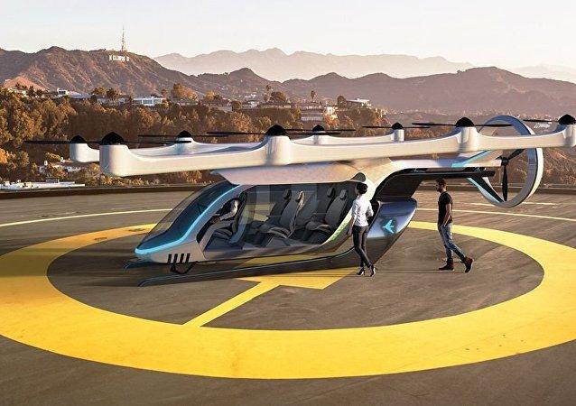 Protótipo do carro voador que está sendo desenvolvido pela Embraer