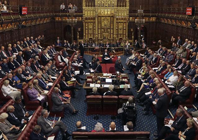 Câmara dos Lordes no Parlamento, Londres (arquivo)