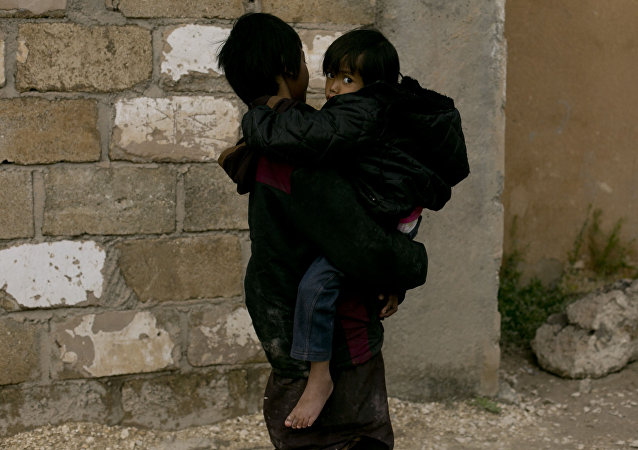 Crianças no campo de Al-Hol, na Síria
