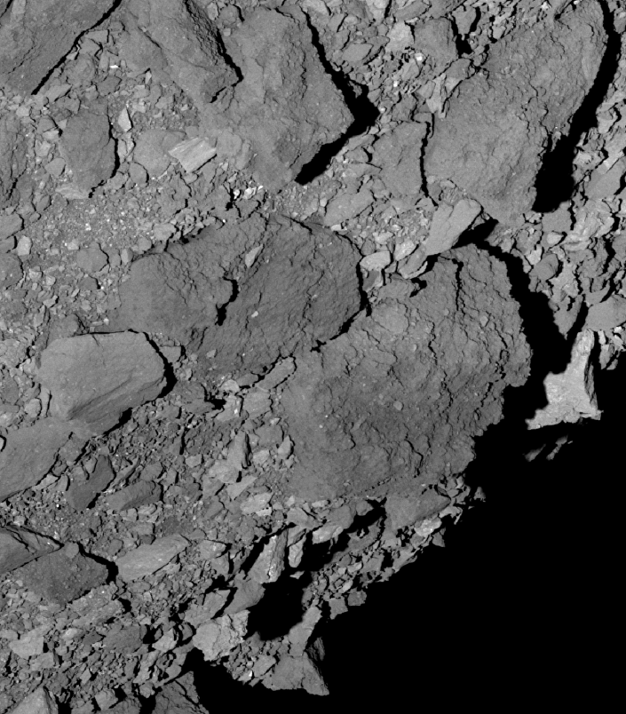 Sonda OSIRIS-REx da NASA mostra imagem da superfície do asteroide Bennu