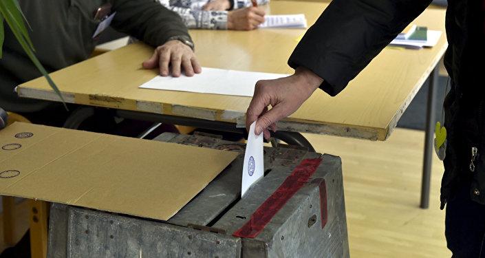 Eleição na Finlândia.