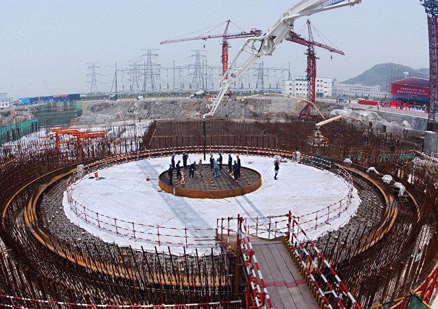 Construção de uma usina nuclear na China