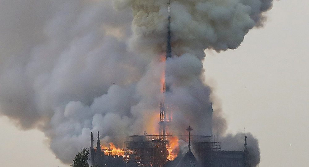 Incêndio na Catedral de Notre-Dame.