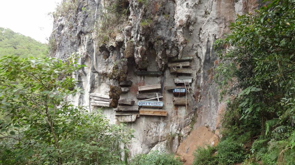 Caixões suspensos de Sagada, nas Filipinas