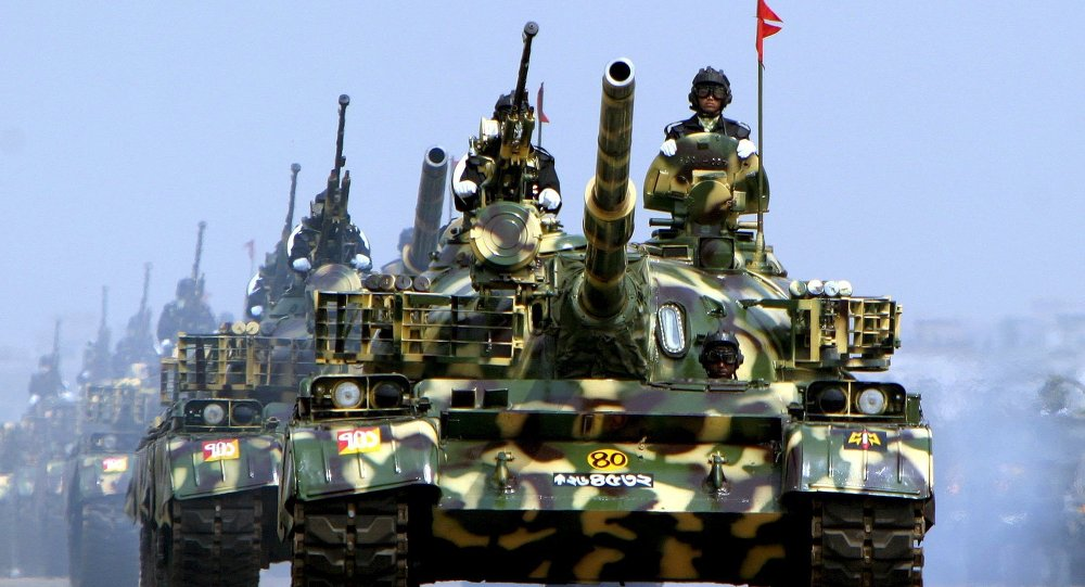 Tanques chineses (imagem ilustrativa)