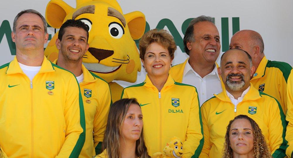 Presidenta Dilma Rousseff durante comemoração do Dia Olímpico