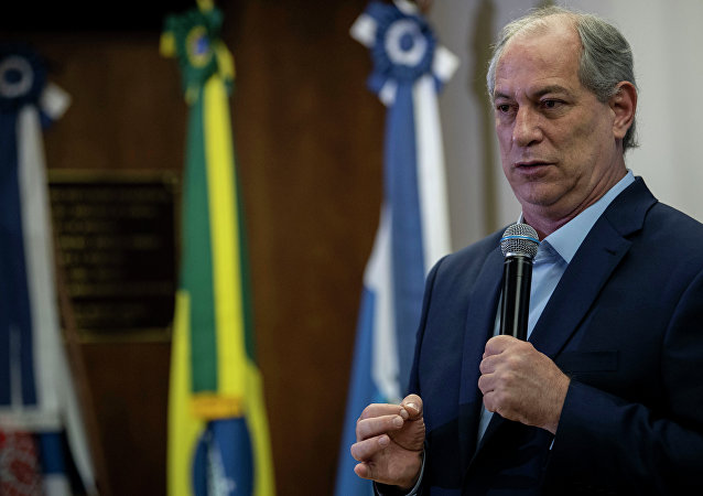 Ciro Gomes (PDT), candidato à presidência do Brasil nas eleições 2018