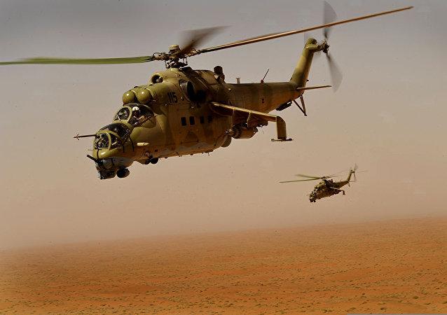 Helicópteros Mi-35 (imagem referencial)