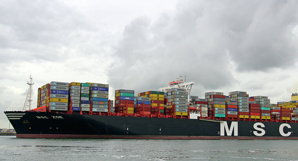 Navio holandês MSC Zoe