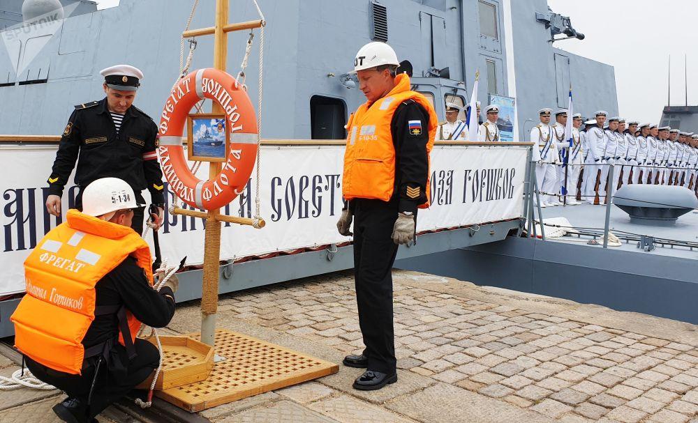 A fragata Admiral Gorshkov é o primeiro navio do projeto 22350