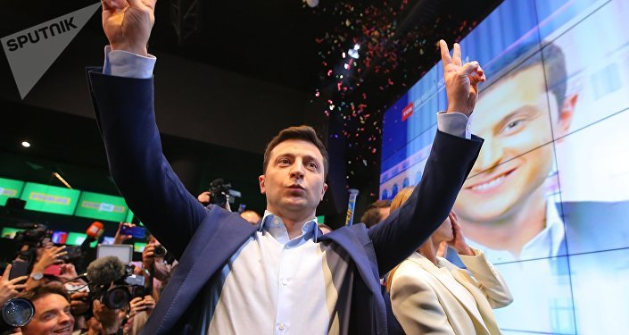 Presidente eleito da Ucrânia, Volodymyr Zelensky