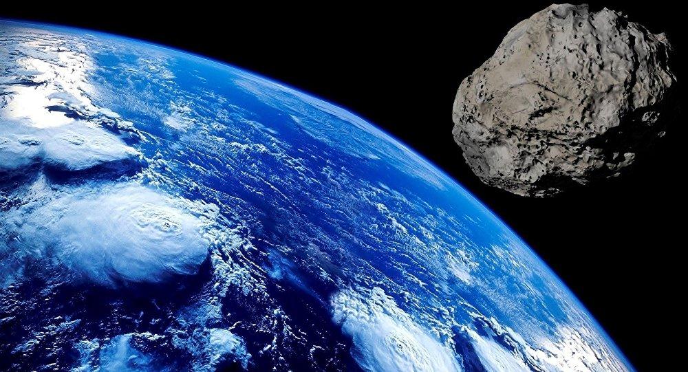 Asteroide se aproximando da Terra (imagem ilustrativa)