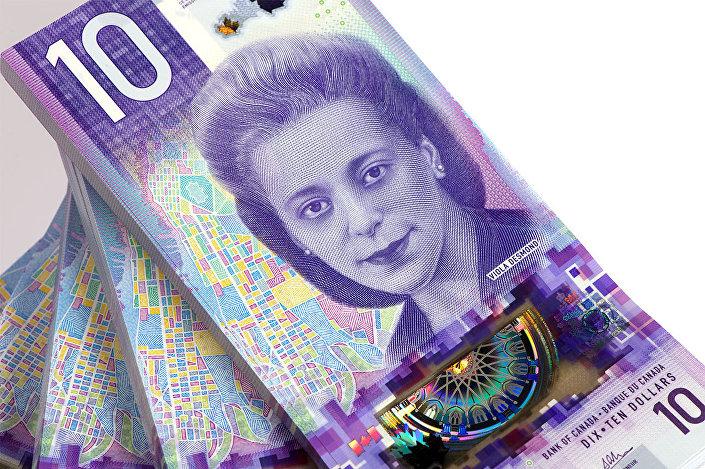 Cédula de 10 dólares canadenses com imagem da empresária Viola Desmond