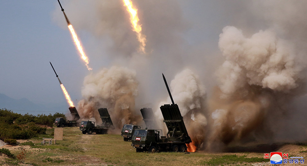 Teste de mísseis efetuado pela Coreia do Norte em 4 de maio