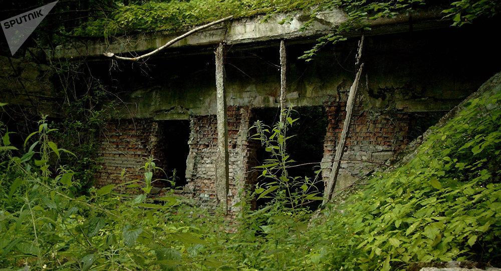 Ruínas do quartel-general Toca do Lobo na cidade de Ketrzyn