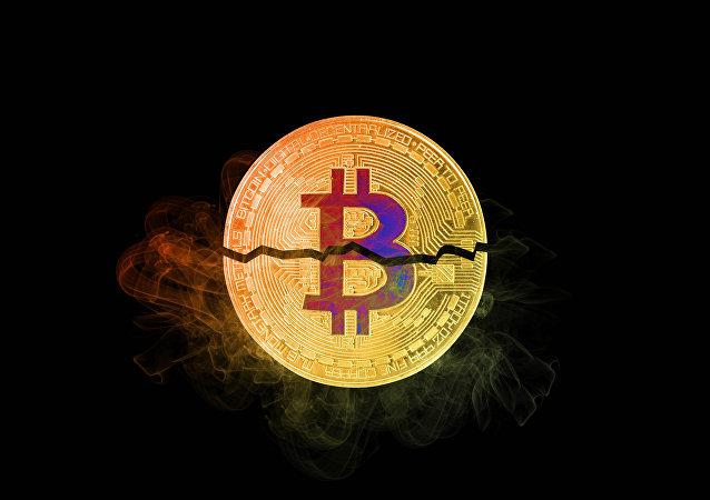 Bitcoin quebrada (imagem ilustrativa)
