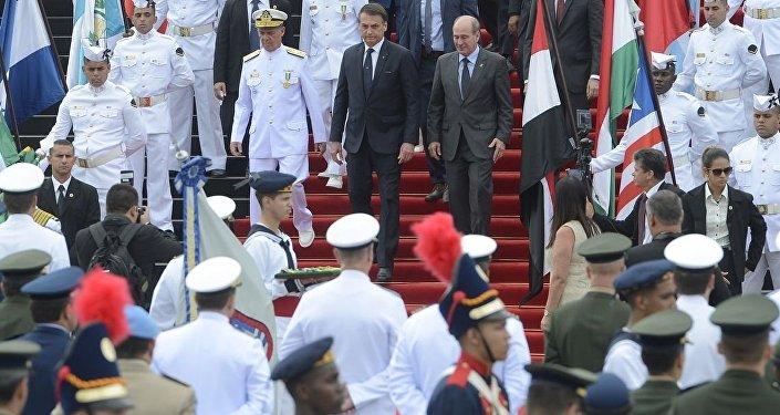 Presidente Jair Bolsonaro durante cerimônia em homenagem ao ex-combatentes da Segunda Guerra Mundial
