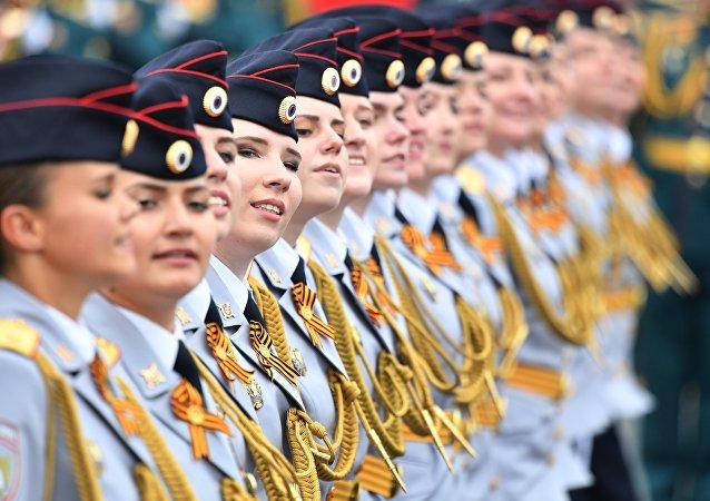 Formatura feminina da Universidade de Moscou do Ministério do Interior da Federação da Rússia