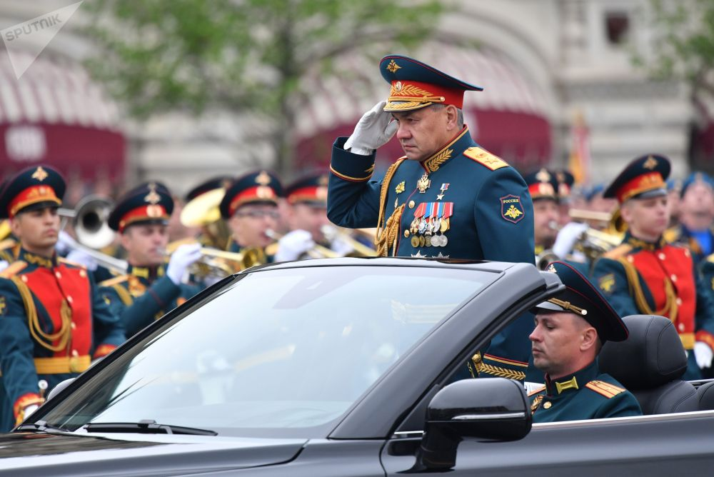 Ministro da Defesa da Rússia, Serguei Shoigu, na Praça Vermelha