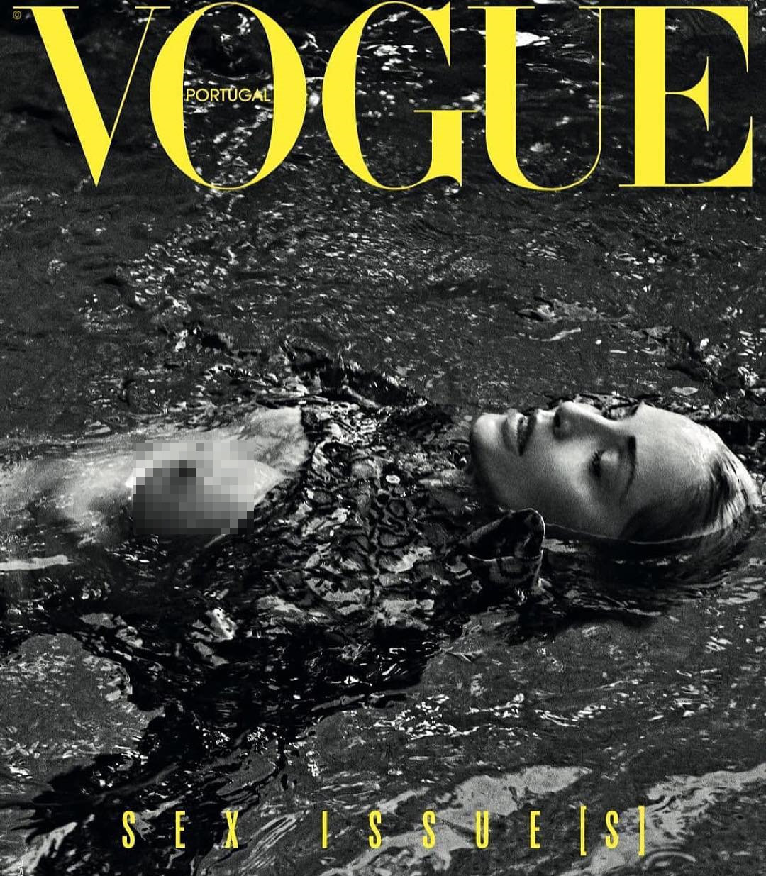 Sharon Stone participa na sessão de fotos para a revista Vogue Portugal