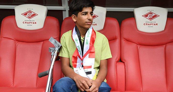 Menino iraquiano Qassem Qadim, protagonista da foto Desejo de viver