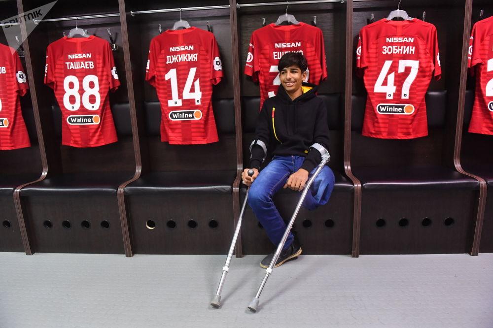 Qassem Qadim visita o vestiário do Spartak de Moscou