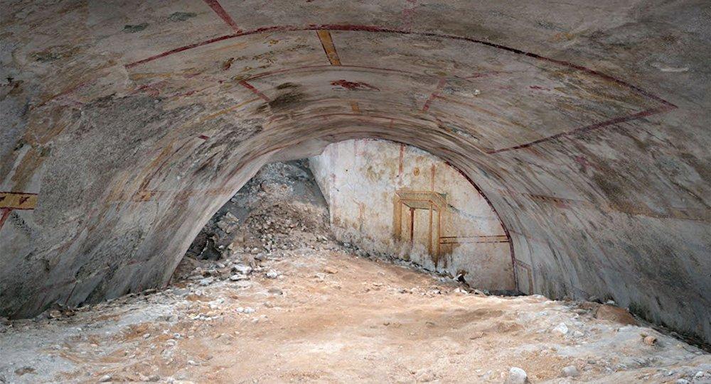 Sala secreta descoberta em Domus Transitoria, o primeiro palácio do imperador romano Nero