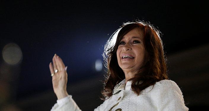 Ex-presidente argentina Cristina Fernández de Kirchner, em Buenos Aires, Argentina, 9 de maio de 2019
