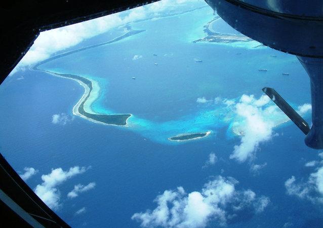 Diego García - o maior atol do arquipélago de Chagos em que se localiza a base militar dos EUA