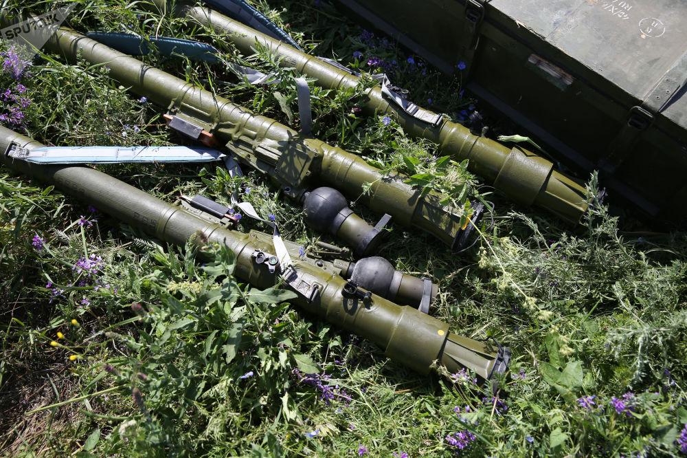 Sistema portátil de lançamento de mísseis terra-ar Igla nas competições militares Céu Limpo 2019