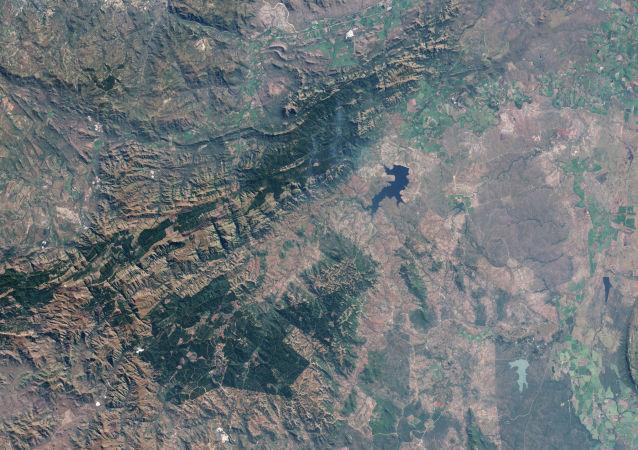 Imagem do Satélite do Cinturão Greenstone Barbeton