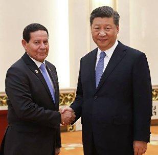 Vice-Presidente da República, Hamilton Mourão, durante Audiência com o Presidente da República popular da China, Xi Jinping.