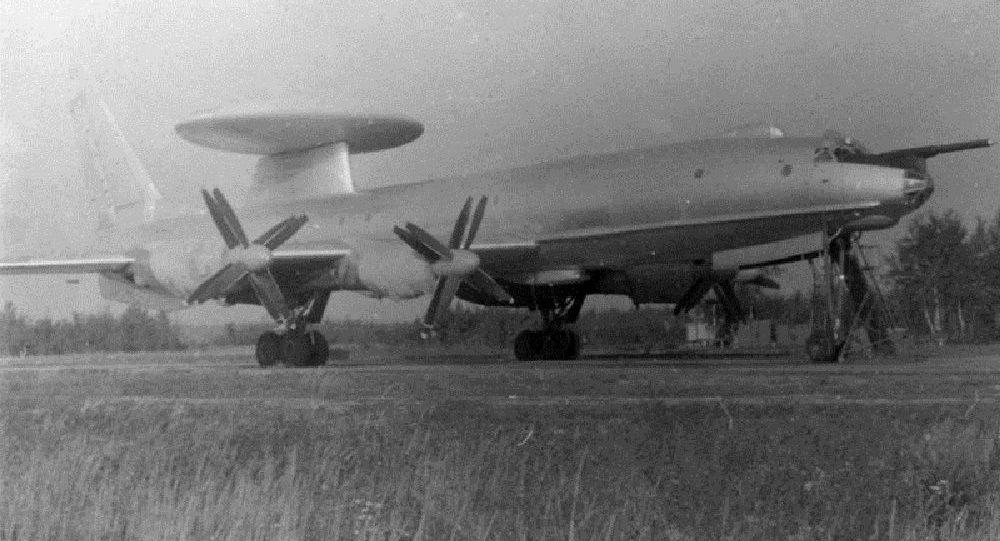 Tu-126 em um polígono soviético