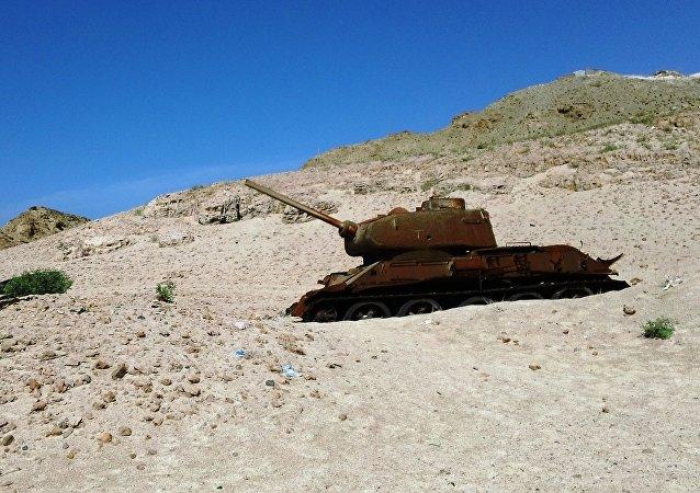 T-34 no Iêmen (imagem referencial)