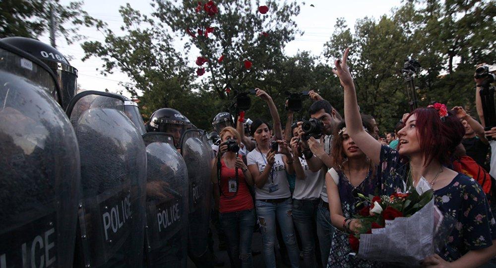 Manifestações em Erevan
