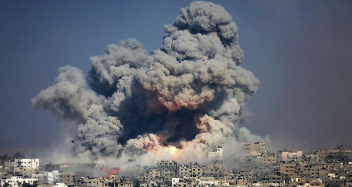 Ataque israelense contra a cidade de Gaza (arquivo)