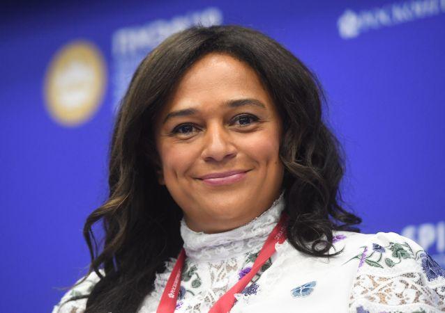 Isabel dos Santos durante o Fórum Econômico Internacional de São Petersburgo (SPIEF), 7 de junho de 2019
