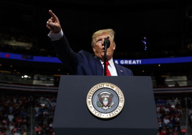 Presidente dos EUA, Donald Trump, lança campanha de reeleição 2020 em Orlando, Flórida, em 18 de junho de 2019