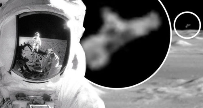 Supposed UFO observing Apollo 12 astronaut